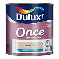 Dulux Once Caramel latte Matt Emulsion paint 2.5L