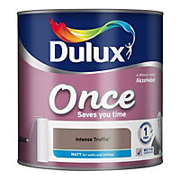 Dulux Once Intense truffle Matt Emulsion paint 2.5L