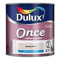 Dulux Once Nutmeg white Matt Emulsion paint 2.5L