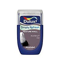 Dulux One coat Acai berry Matt Emulsion paint, 30ml Tester pot