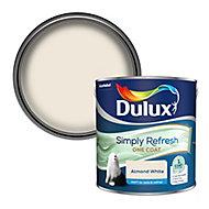 Dulux One coat Almond white Matt Emulsion paint, 2.5L