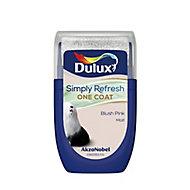 Dulux One coat Blush pink Matt Emulsion paint, 30ml Tester pot
