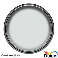 Dulux One coat Cornflower white Matt Emulsion paint, 2.5L