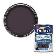 Dulux One coat Decadent damson Matt Emulsion paint, 1.25L