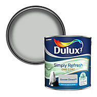 Dulux One coat Goose down Matt Emulsion paint, 2.5L