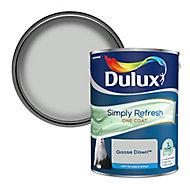 Dulux One coat Goose down Matt Emulsion paint, 5L