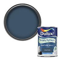 Dulux One coat Indigo shade Matt Emulsion paint, 1.25L