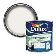 Dulux One coat Jasmine white Matt Emulsion paint, 2.5L