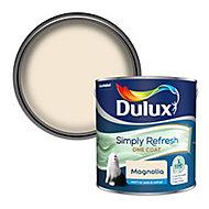 Dulux One coat Magnolia Matt Emulsion paint, 2.5L