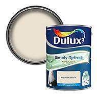Dulux One coat Natural calico Matt Emulsion paint, 5L