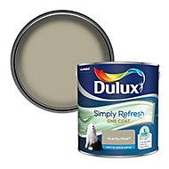 Dulux One coat Overtly olive Matt Emulsion paint, 2.5L
