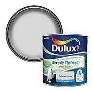 Dulux One coat Polished pebble Matt Emulsion paint, 2.5L