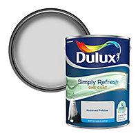 Dulux One coat Polished pebble Matt Emulsion paint, 5L