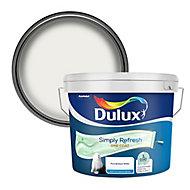 Dulux One coat Pure brilliant white Matt Emulsion paint, 10L