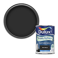 Dulux One coat Rich black Matt Emulsion paint, 1.25L