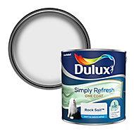 Dulux One coat Rock salt Matt Emulsion paint, 2.5L