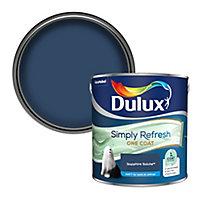 Dulux One coat Sapphire salute Matt Emulsion paint, 2.5L