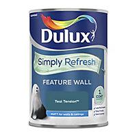 Dulux One coat Teal tension Matt Emulsion paint, 1.25L