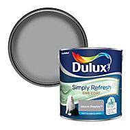 Dulux One coat Warm pewter Matt Emulsion paint, 2.5L
