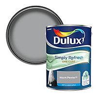 Dulux One coat Warm pewter Matt Emulsion paint, 5L