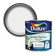 Dulux One coat White cotton Matt Emulsion paint, 2.5L