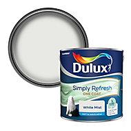 Dulux One coat White mist Matt Emulsion paint, 2.5L
