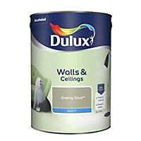 Dulux Overtly olive Matt Emulsion paint, 5L