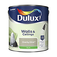 Dulux Overtly olive Silk Emulsion paint, 2.5L