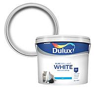 Dulux Pure brilliant white Matt Emulsion paint, 10L