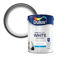 Dulux Pure brilliant white Matt Emulsion paint, 5L