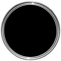 Dulux Quick dry Black Satinwood Metal & wood paint, 0.75L