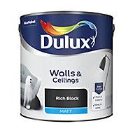 Dulux Rich black Matt Emulsion paint, 2.5L