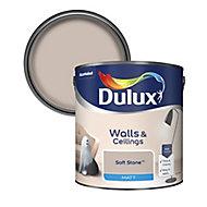 Dulux Soft stone Matt Emulsion paint, 2.5L