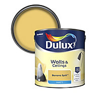 Dulux Standard Banana split Matt Emulsion paint 2.5L