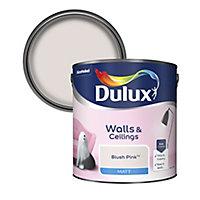 Dulux Standard Blush pink Matt Emulsion paint 2.5L