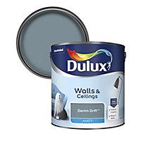 Dulux Standard Denim drift Matt Emulsion paint, 2.5L