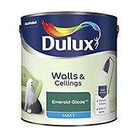 Dulux Standard Emerald glade Matt Emulsion paint, 2.5L