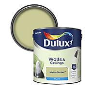 Dulux Standard Melon sorbet Matt Emulsion paint, 2.5L