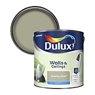 Dulux Standard Overtly olive Matt Emulsion paint, 2.5L