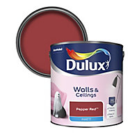 Dulux Standard Pepper red Matt Emulsion paint 2.5L