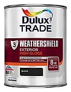 Dulux Trade Black Gloss Metal & wood paint, 1L
