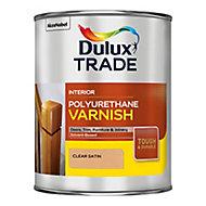 Dulux Trade Clear Satin Wood varnish, 1L