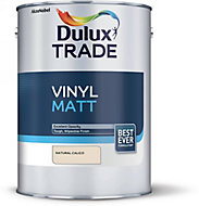 Dulux Trade Natural calico Matt Emulsion paint, 5L