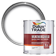 Dulux Trade Pure brilliant white Gloss Metal & wood paint, 1L