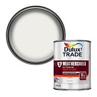 Dulux Trade Pure brilliant white Gloss Multi-surface paint, 1L