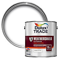 Dulux Trade Pure brilliant white Gloss Wood paint, 2.5L