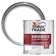 Dulux Trade Pure brilliant white Satin Metal & wood paint, 2.5L