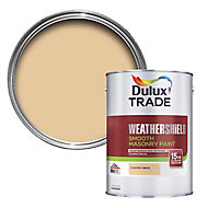 Dulux Trade Weathershield Country cream Smooth Masonry paint, 5L