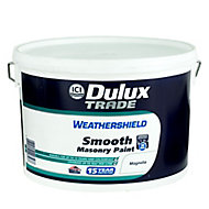 Dulux Trade Weathershield Magnolia Smooth Masonry paint, 10L