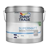 Dulux Trade White Super matt Emulsion paint 10L